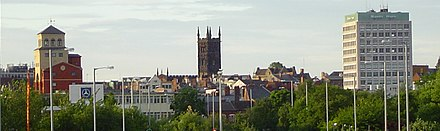 Wolverhampton Skyline with St. Peters Church in the centre Wolverhampton-cropped.jpg