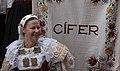 Woman in folk costume from Cífer area, Slovakia. Myjava-Festival 2017.jpg