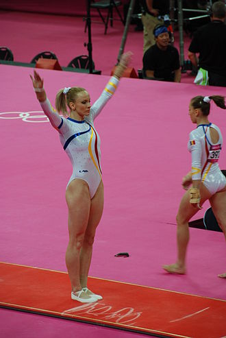 Romania at the 2012 Summer Olympics - Gymnast Sandra Izbașa wins gold medal in the women's vault exercises.