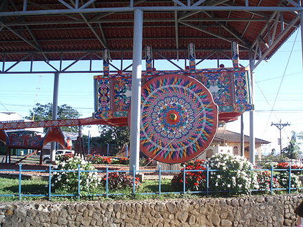 Las Carretas (oxcarts) are a national symbol. World's Largest Oxcart Sarchi Costa Rica.JPG