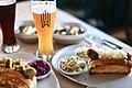 Wursthall beer and sausage.jpg