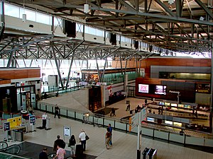 Interior of Ottawa Airport terminal, Ontario, ...
