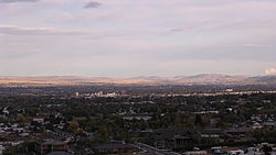 Yakima, Washington when it is seen from the west.