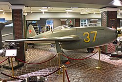 Yakolev Yak-15 '37 yellow' (38910149232).jpg