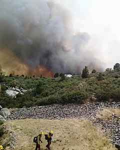 Yarnell Hill Fire with firefighters in the foreground.jpg