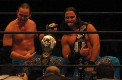 Young Bucks IWGP Junior Heavyweight Tag Team Champions.JPG