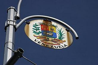 Sixth Avenue - Sign for Venezuela on Sixth Avenue