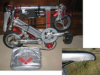 Portable bicycle - Image: Zerobike 02