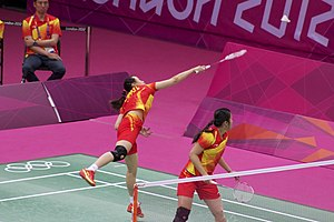 Tian Qing - Tian Qing and Zhao Yunlei at the 2012 Summer Olympics
