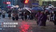 Fil: Zhengzhou-gader under oversvømmelsen 2021-07-20.webm