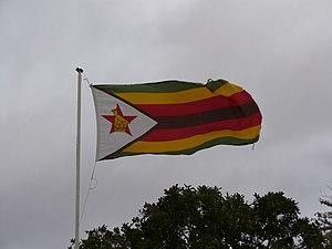 Flag of Zimbabwe - The Zimbabwean flag flying in the breeze