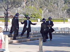 Men wearing zoot suits.