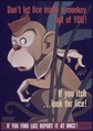 """Don't Let Lice Make a Monkey out of You^ If You Itch...Look for Lice^ If You Find Lice Report it at Once"" - NARA - 514159.tif"