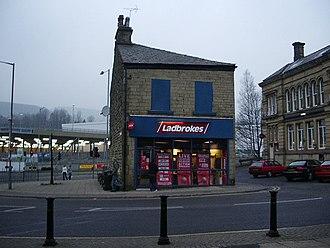 Gambling in the United Kingdom - A Ladbrokes betting shop in Rawtenstall, Lancashire.