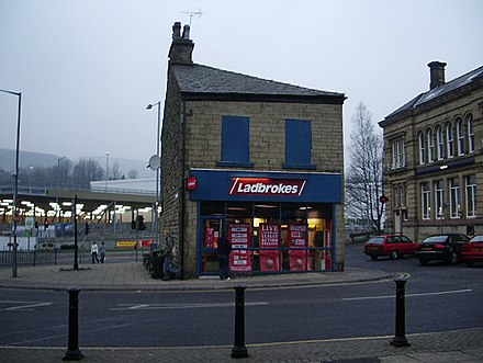 A Ladbrokes betting shop in Rawtenstall, Lancashire.