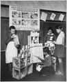 """To learn how to shop with point stamps, these youngsters in a Fairfax County, Virginia, grade school have set up a play - NARA - 535821.tif"