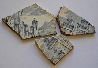 Blue Mountains (New South Wales) - Broken china from ruins near Asgard Swamp, where a coal mine was opened in the nineteenth century