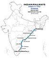 (Howrah - Tiruchchirapalli) Express Route map.jpg