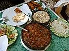 غداء مصري تقليدي.