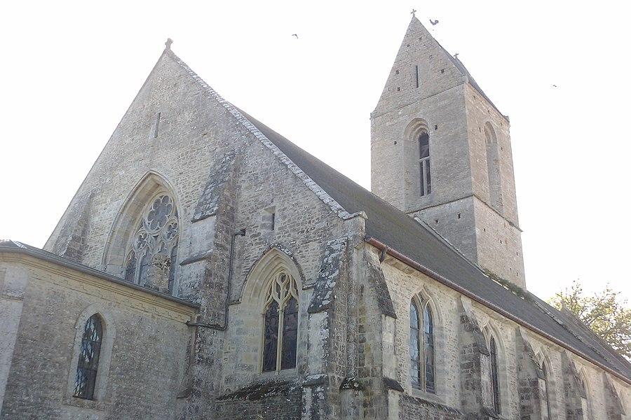 Fr:Église Saint-Étienne d'Auvers  en contrejour