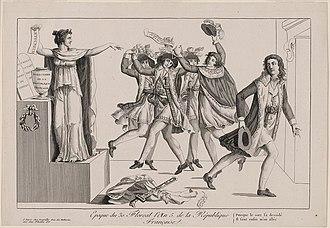 Étienne-François Letourneur - Political caricature showing Letourneur leaving the French Directory (19 April 1797)