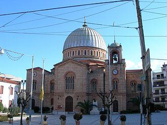 Aigio - Faneromeni church, designed by Ernst Ziller.