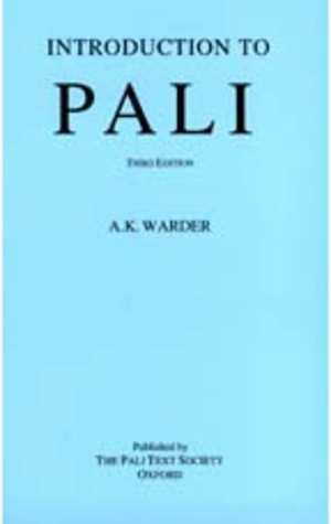 A. K. Warder - Introduction to Pali cover