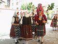 Възстановка на обичая Еньова буля от жени от с.Факия, в двора на Етнографския музей в Бургас през 2006 година.jpg