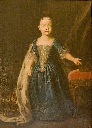 Grand Duchess Natalia Petrovna of Russia (1718–1725) - Image: Каравак Портрет цесаревны Натальи Петровны