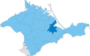 Sovietskyi Raion - Image: Карта схема Крыма Советский район