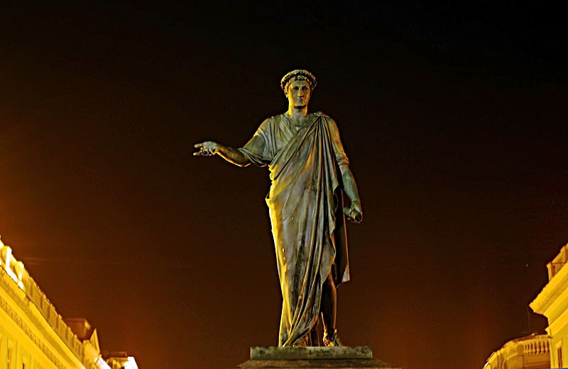 Пам'ятник генерал-губернатору Арману де Ришельє, Одеса. Автор фото — D.Rovchak (ліцензія CC-BY-SA-3.0)
