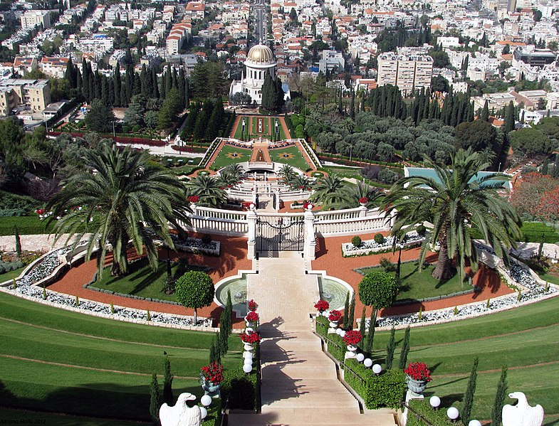 המקומות רומנטיים בישראל - הגנים הבהאיים, מבט מלמעלה