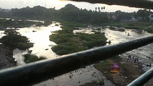 Thamirabarani River - Thamirabarani river in dawn