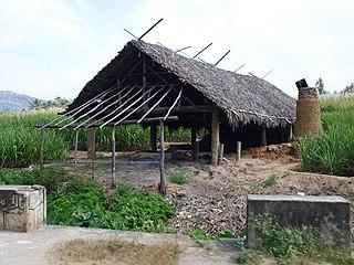 Marayur Town in Kerala, India
