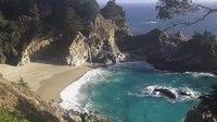 File:♥♥ Relaxing 3 Hour Video of a Waterfall on an Ocean Beach at Sunset.webm