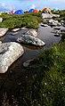 在鳌山大梁上扎营-雨后形成很多水潭 - panoramio.jpg