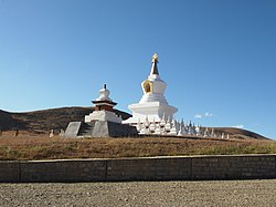 White Pagoda in Daocheng County