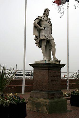 William de la Pole (Chief Baron of the Exchequer) - 19th-century statue of William de la Pole