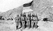 Soldati dell'esercito arabo durante la rivolta araba 1916-1918