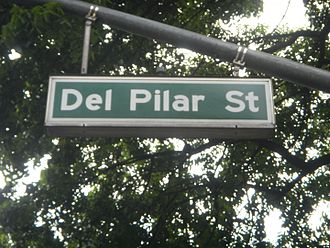 Del Pilar Street - A typical Del Pilar Street sign in Malate