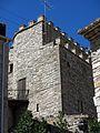 073 Castell de Vallfogona de Riucorb, angle nord-est, des de la pl. Francesc Vicent Garcia.jpg