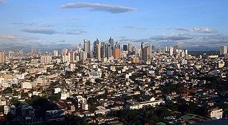 Makati - Image: 10 25 2005 JVBA Makati Skyline