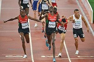 2015 World Championships in Athletics – Men's 1500 metres - The blanket finish