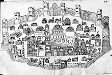 A detailed map of Jerusalem from the 17th century
