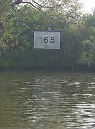 Gulf Intracoastal Waterway - The Corps of Engineers marks the Intracoastal with channel markers like this one.