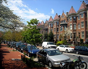 Dupont Circle - The 1700 block of T Street NW, in the Strivers' Section