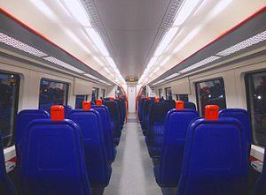 British Rail Class 172 - The interior of a Chiltern Railways Class 172/1