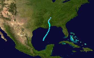 1872 Atlantic hurricane season - Image: 1872 Atlantic tropical storm 1 track