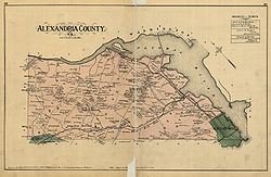 1878 Alexandria County Virginia