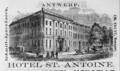 1885 Hotel Antoine Antwerp ad Harpers Handbook for Travellers in Europe.png